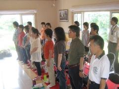 いつもと違った環境での練習で、歌声ものびやかに・・・?